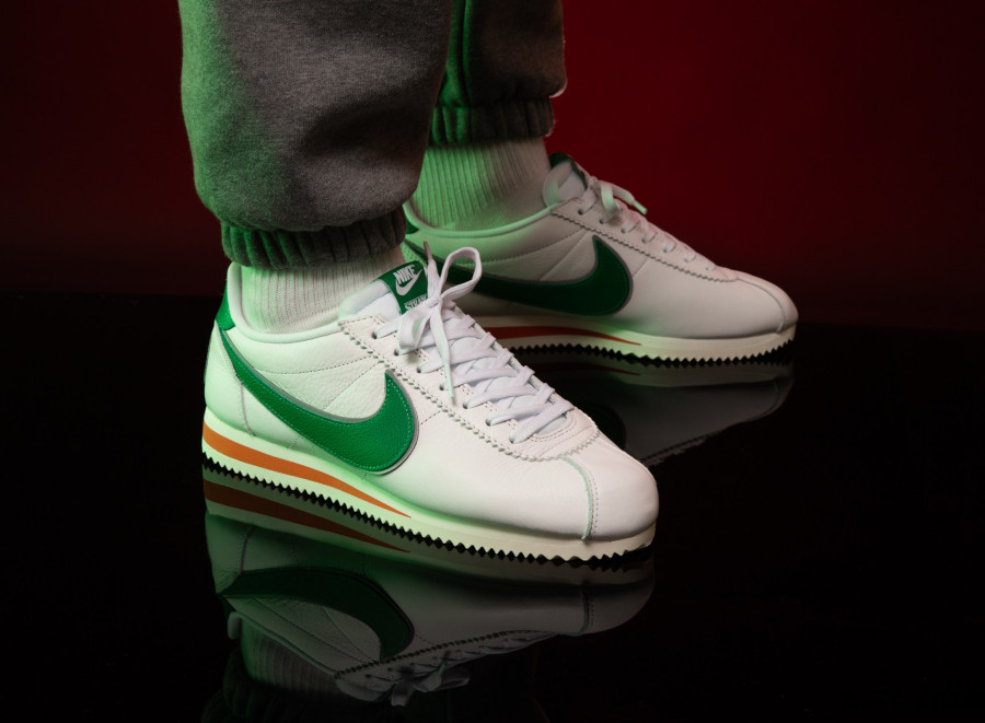 Nike-Cortez-White-Pine-Green-Cosmic-Clay-Sail-on-feet-CJ6106-100-1