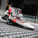 Nike React ISPA Low Ghost Aqua Total Crimson Black
