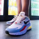 Nike Women's Air Max 270 React 'Bauhaus' Phantom Black Light Blue