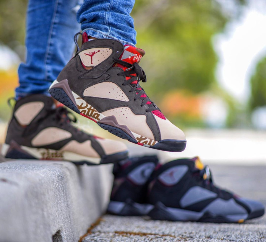 Patta x Air Jordan 7 Retro OG SP 'Shimmer Velvet Brown' (2)