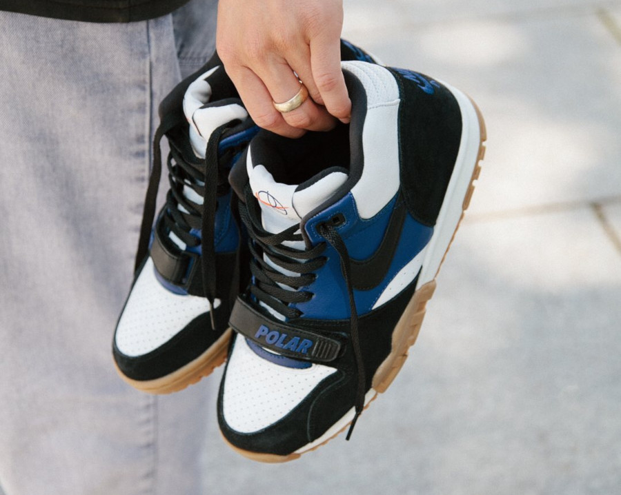 Polar Skate Co. x Nike SB Air Trainer 1 Black Deep Royal Blue (0)