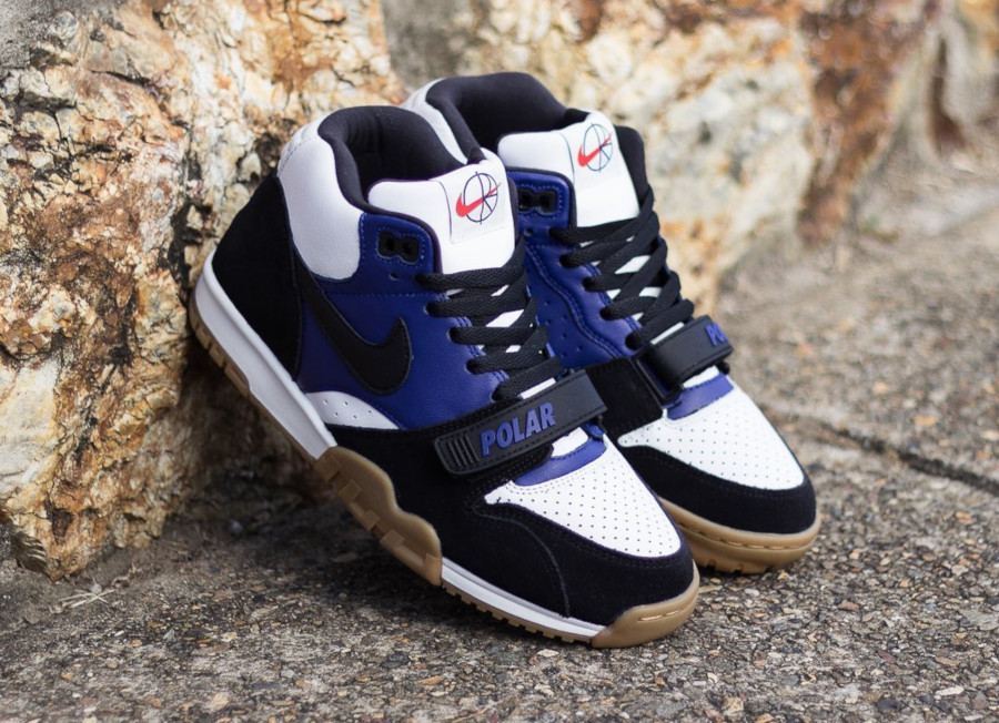 Polar Skate Co. x Nike SB Air Trainer 1 Black Deep Royal Blue (1)