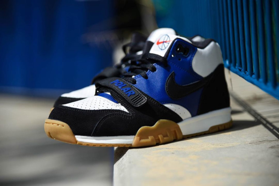 Polar Skate Co. x Nike SB Air Trainer 1 Black Deep Royal Blue (2)