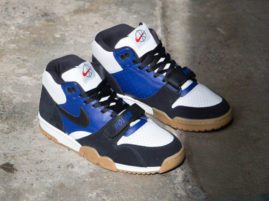 Polar Skate Co. x Nike SB Air Trainer 1 Black Deep Royal Blue (3)