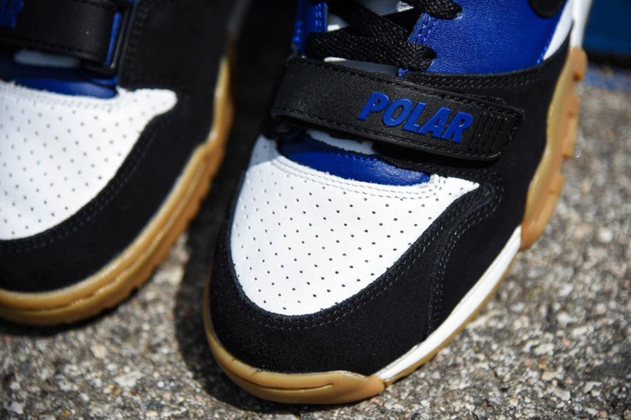 Polar Skate Co. x Nike SB Air Trainer 1 Black Deep Royal Blue (4)