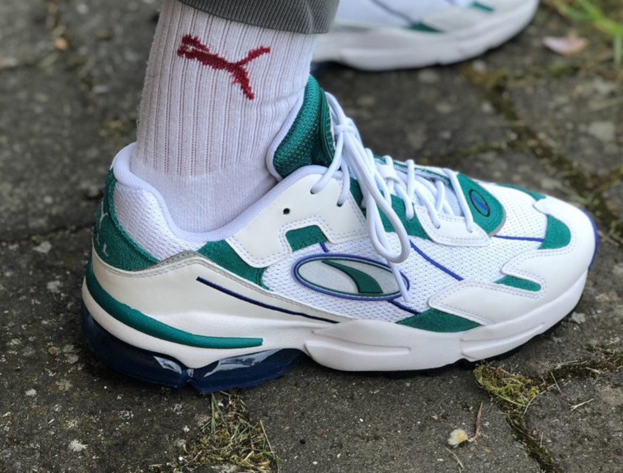 Puma Cell Ultra blanche et vert turquoise (2)