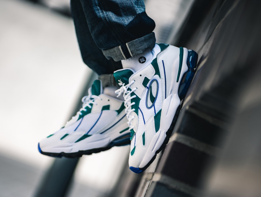 Puma Cell Ultra blanche et vert turquoise (3)