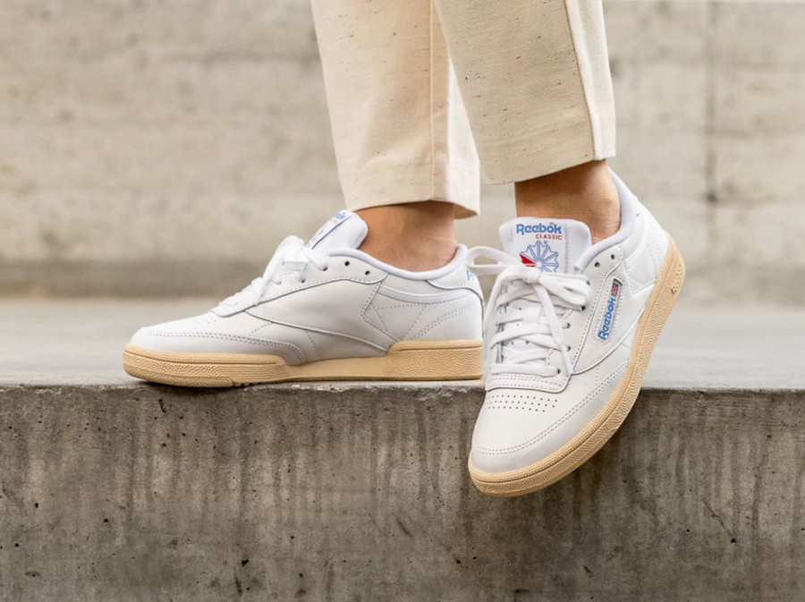 Reebok Club C 85 W White Athletic Blue Red DV7265