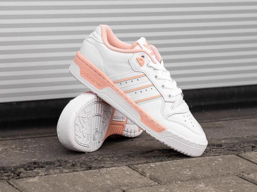 Adidas Rivalry Lo blanche et rose pastel EE5933 (1)