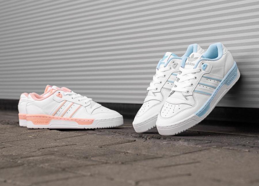 Adidas Rivalry Low W Glow Pink Blue (1)