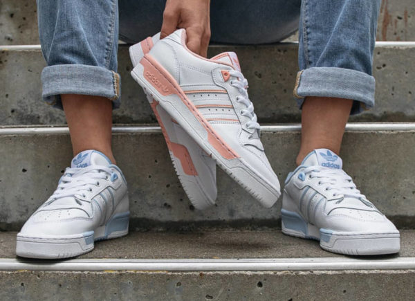 Adidas Rivalry Low W Glow Pink Blue (2)