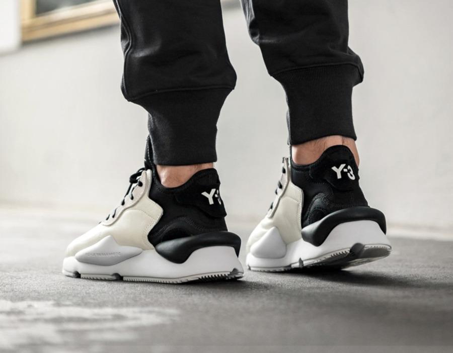 Adidas Yohji Yamamoto 3 Kaiwa blanc cassé et noire (3)
