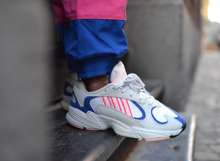 Adidas Yung-1 Crystal White Clear Orange pas cher