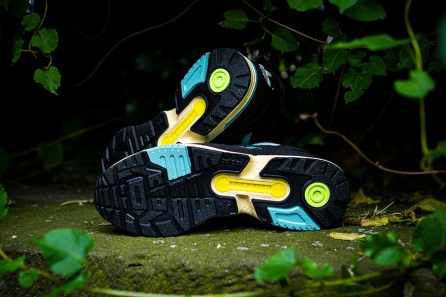 Adidas ZX 4000 noire et vert menthe (3)