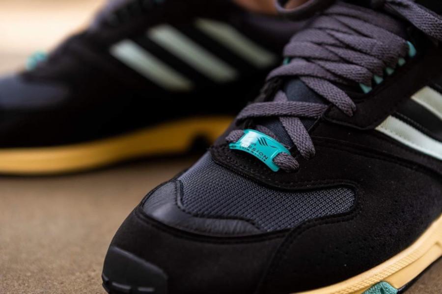 Adidas ZX 4000 noire et vert menthe (5)