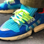 Adidas ZX Torsion Bright Cyan Linen Green Blue