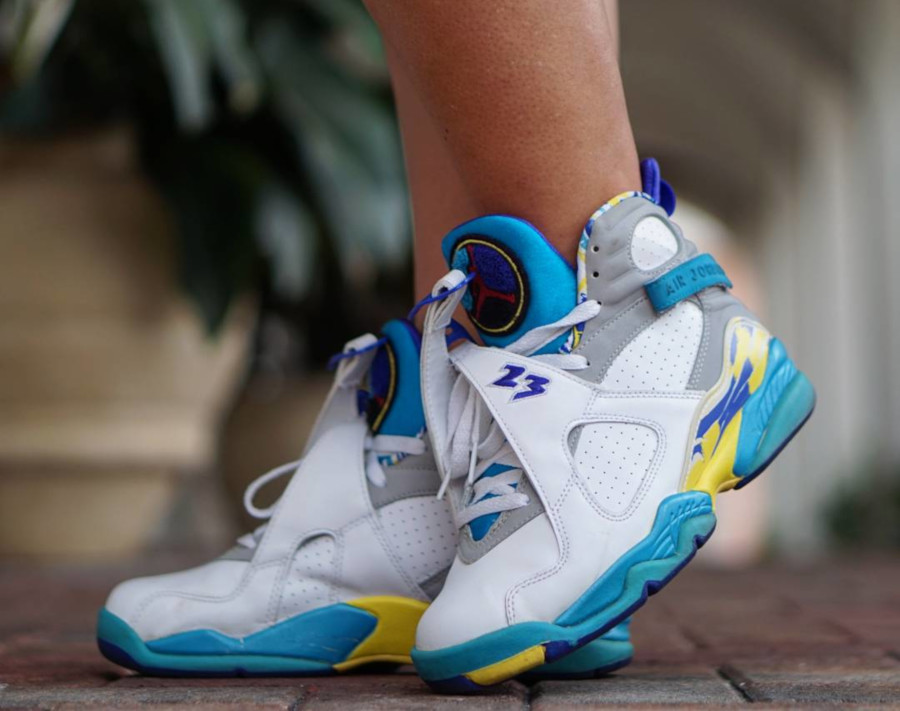 Air Jordan 8 Retro White Aqua 2007