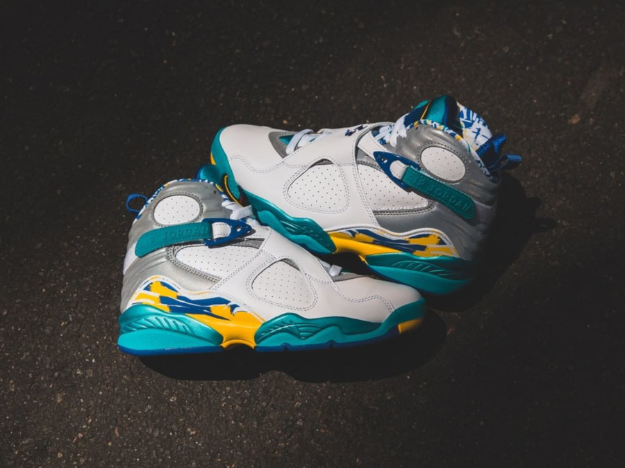 Air Jordan 8 Wmns Retro White Aqua CI1236-100