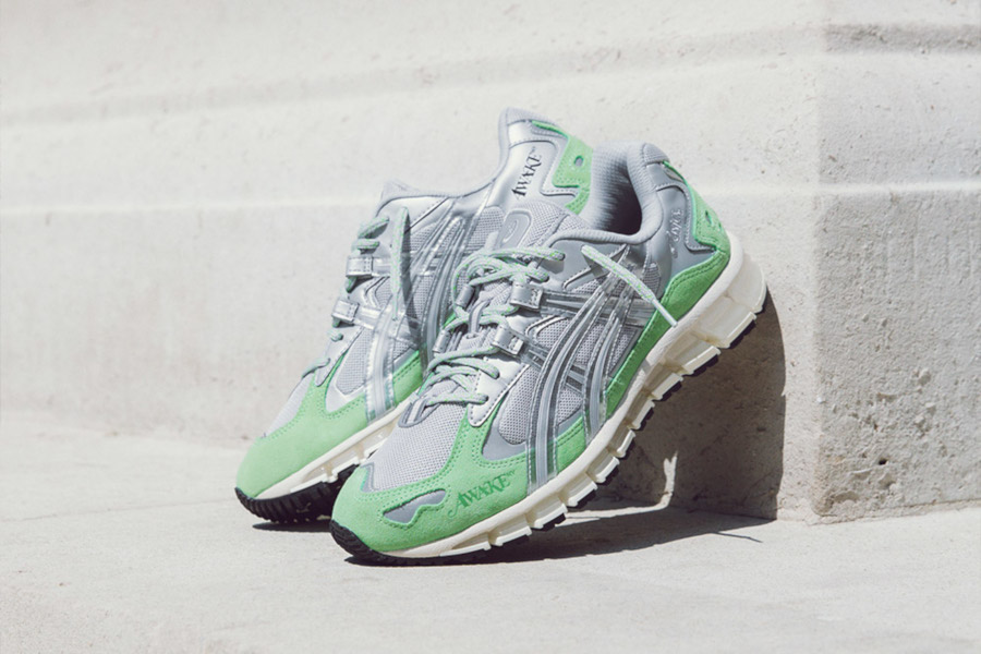 Asics Gel Kayano 5 360 gris métallique vert menthe 1021a244-020 (1)