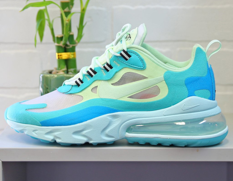 Mens Nike Air Max 270 React vert turquoise et bleue (6)