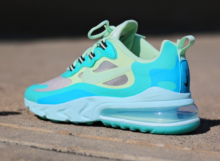 Mens Nike Air Max 270 React vert turquoise et bleue (7)