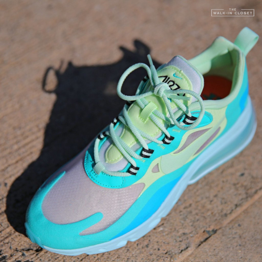 Mens Nike Air Max 270 React vert turquoise et bleue (8)
