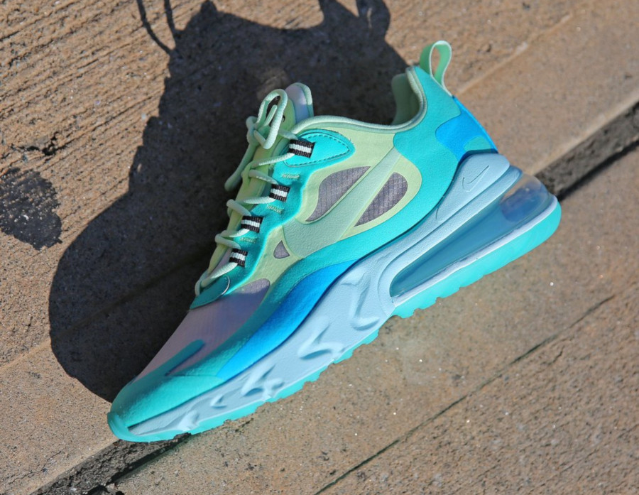 Mens Nike Air Max 270 React vert turquoise et bleue (9)