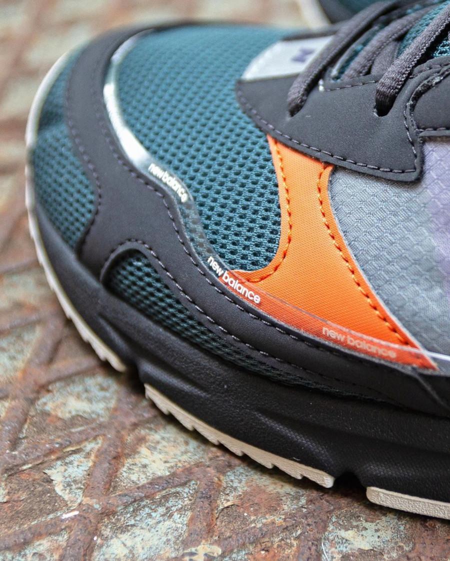 New Balance X-Racer grise vert foncé et orange (3)