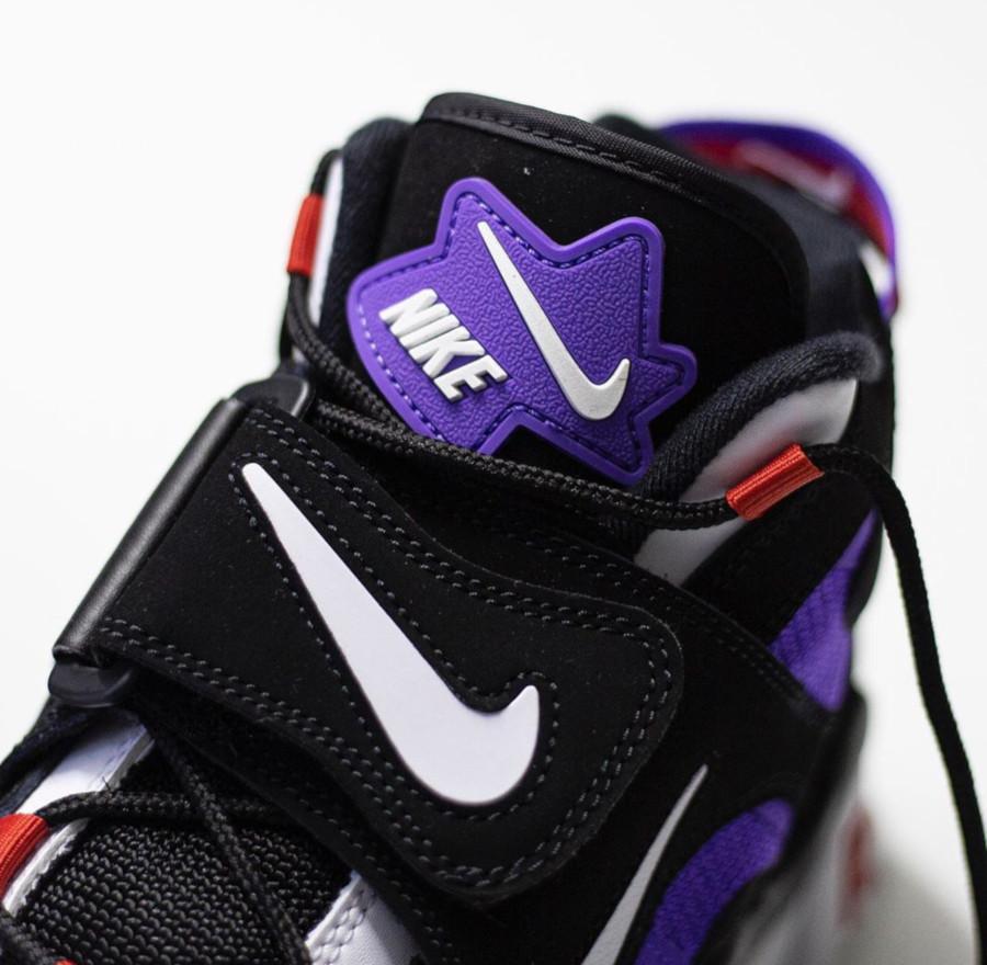 Nike Air Barrage Mid noire blanche violet et rouge (1)