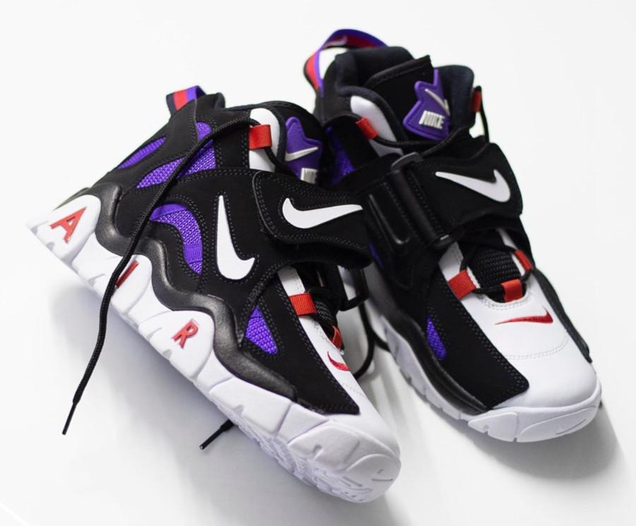 Nike Air Barrage Mid noire blanche violet et rouge (5-1)