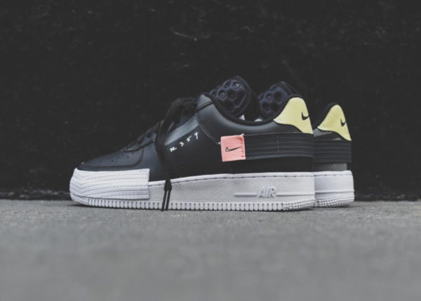 Nike Air Force 1 Low Drop Type N354 Black Pink Tint