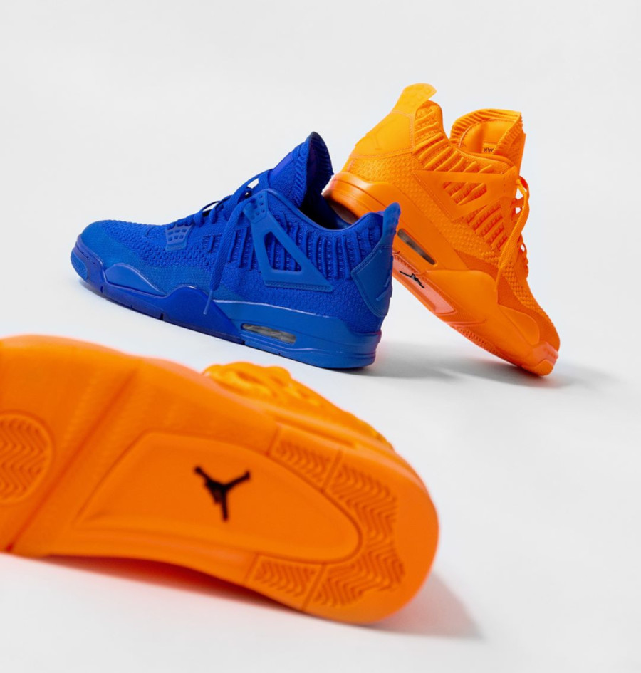 Nike Air Jordan 4 Nike Flyknit Total Orange Gunsmoke