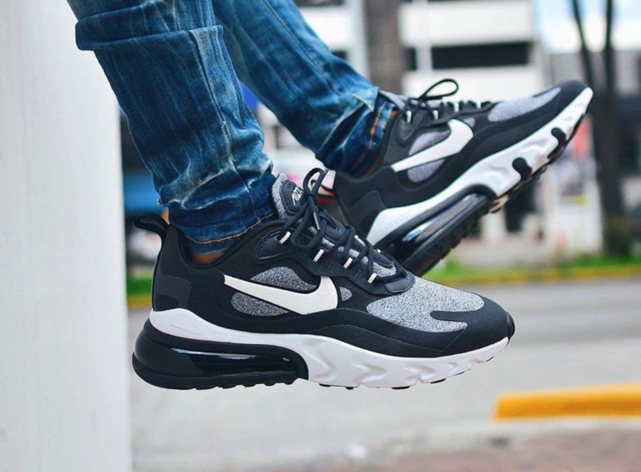 nike air max 270 react noir et blanc