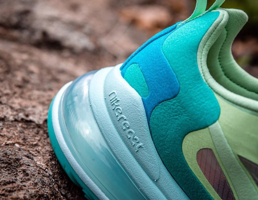 Nike Air Max 270 React vert turquoise et bleue (1)