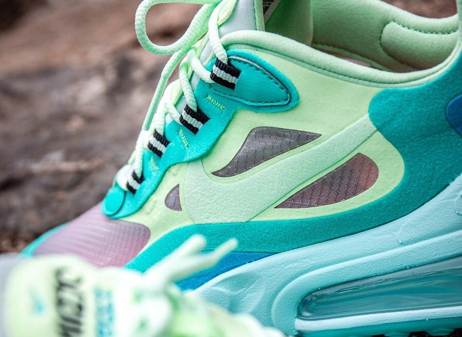 Nike Air Max 270 React vert turquoise et bleue (4)