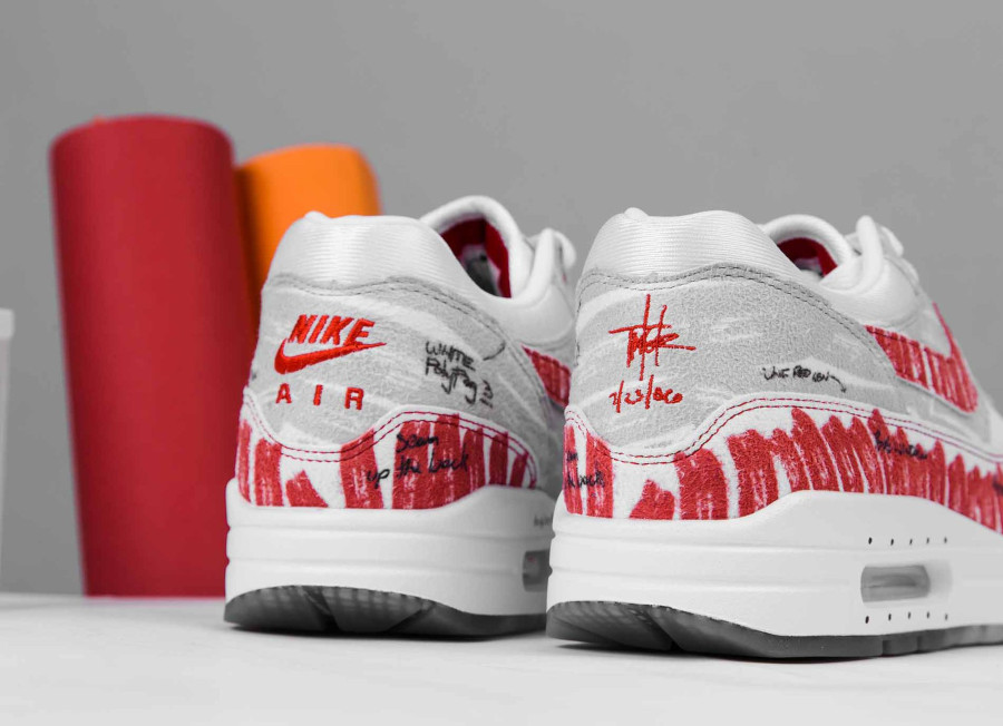 Nike Air Max 87 rouge style croquis quickstrike (1)