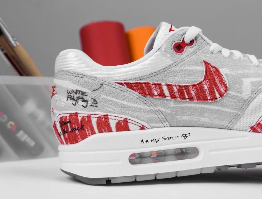 Nike Air Max 87 rouge style croquis quickstrike (2)