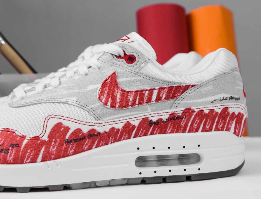 Nike Air Max 87 rouge style croquis quickstrike (5)