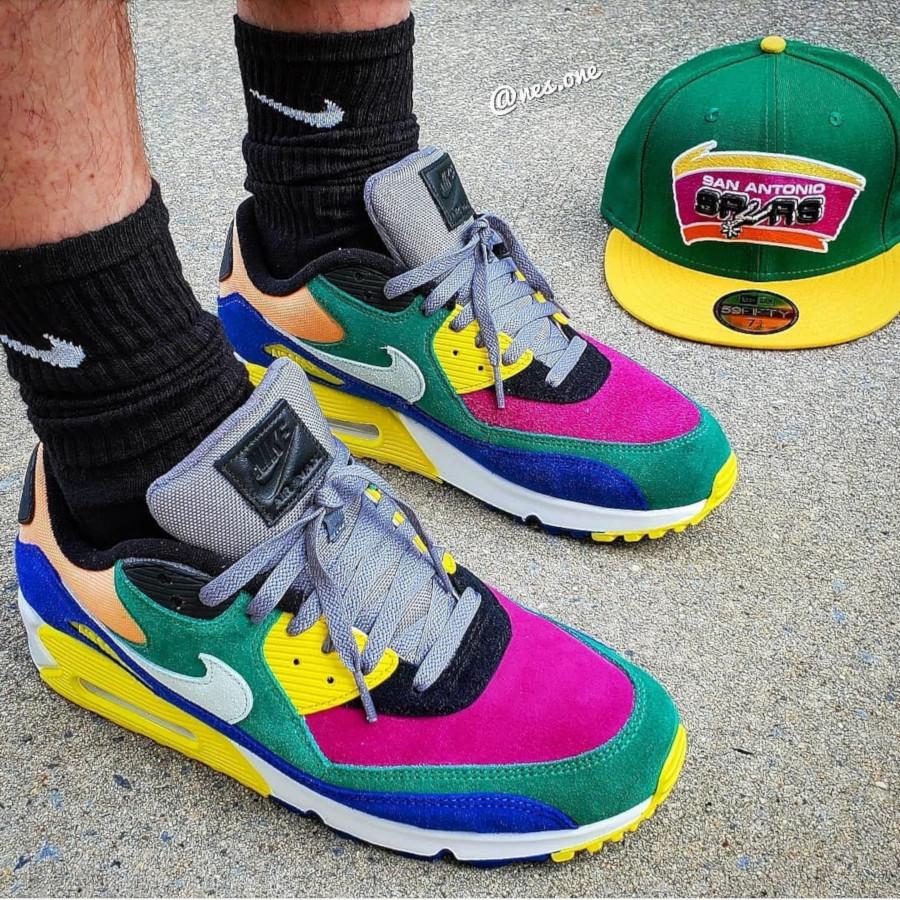 Nike Air Max 90 Premium multicolore cd0917-300 (6)