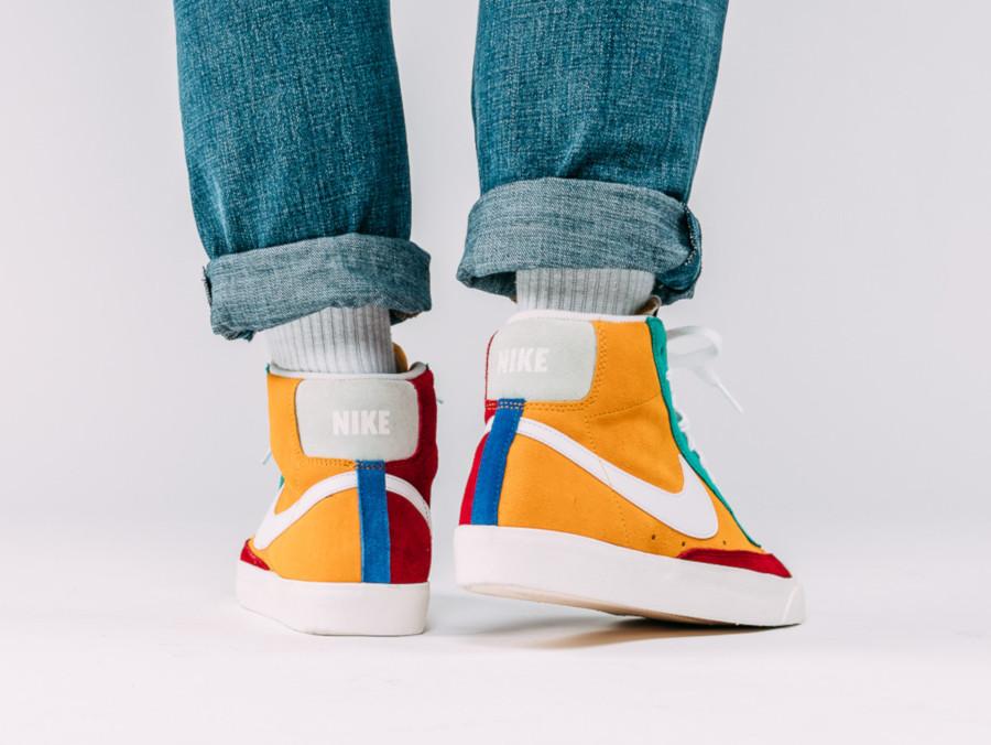 Nike Blazer mi-montante en suède multicolore (1)