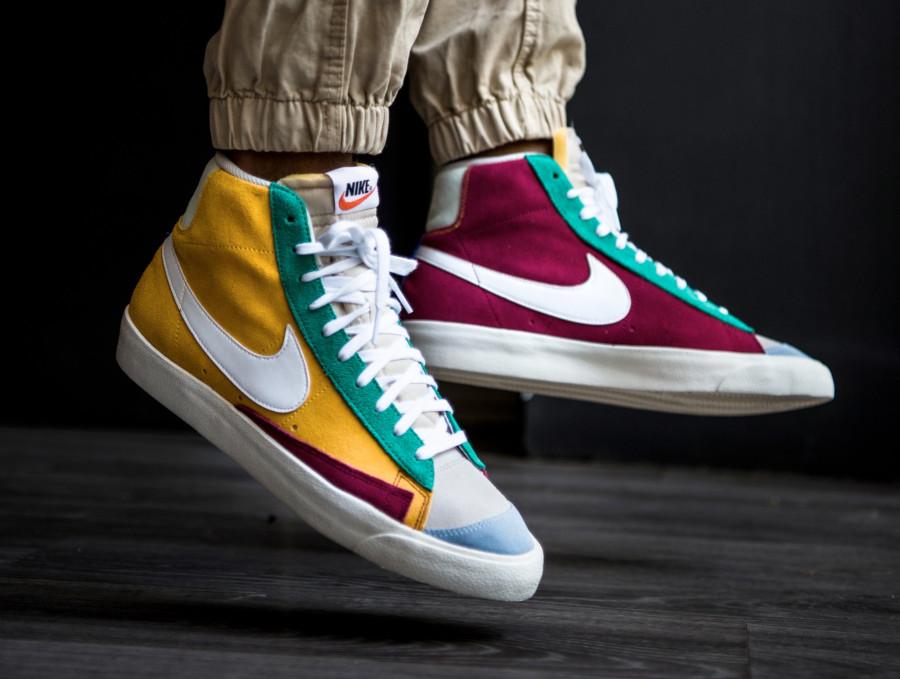 Nike-Blazer-mi-montante-en-suède-multicolore-3