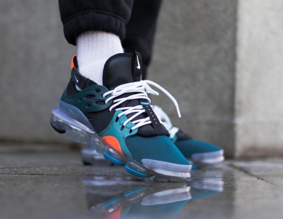 Nike Dimension Six Vapormax noire turquoise et orange (2)