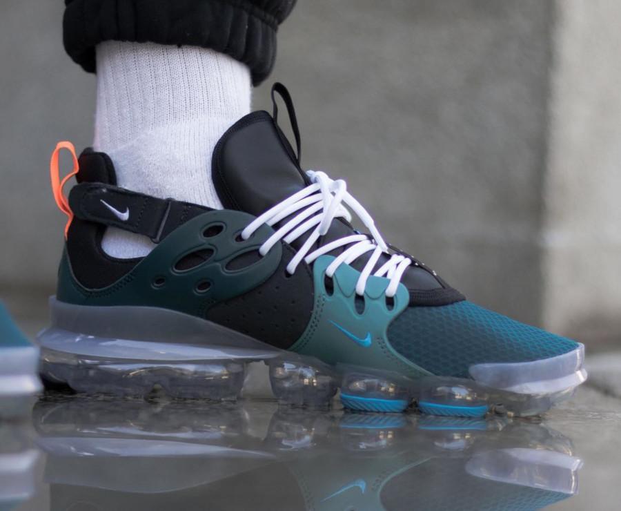 Nike Dimension Six Vapormax noire turquoise et orange (3)