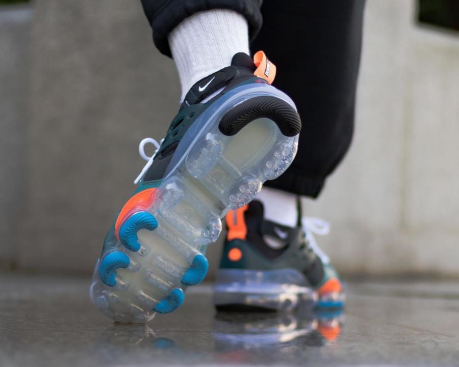 Nike Dimension Six Vapormax noire turquoise et orange (4)
