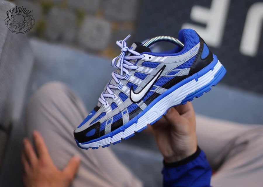 Nike P-6000 gris argent bleue et noire CD6404-400 (1)