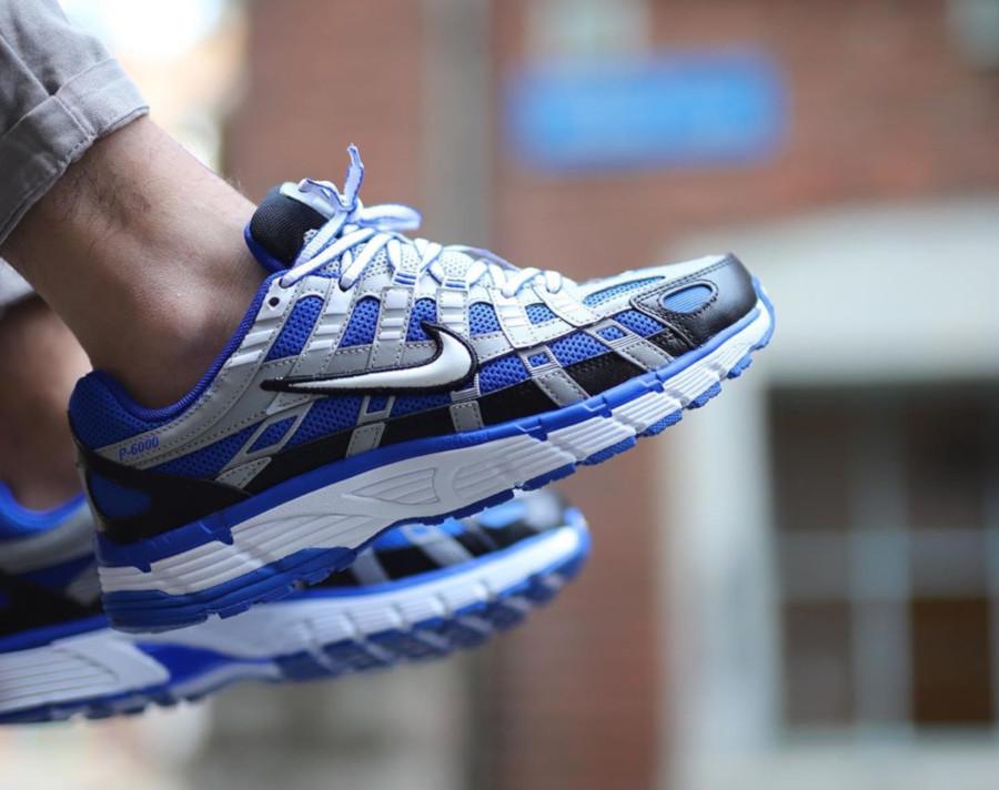 Nike P-6000 gris argent bleue et noire CD6404-400 (2)