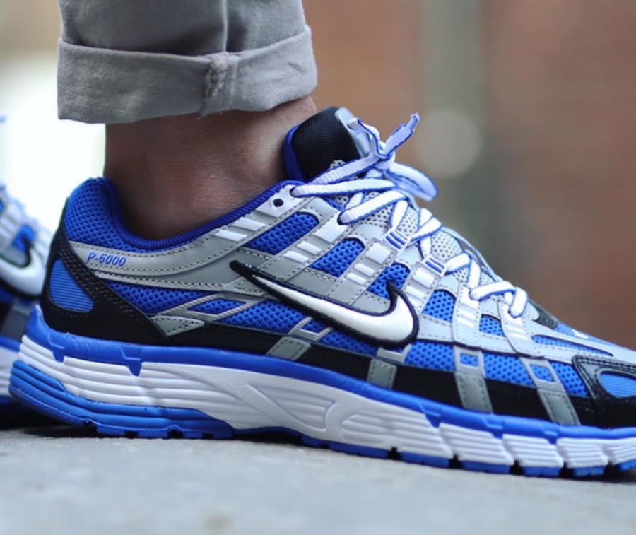 Nike P-6000 gris argent bleue et noire CD6404-400 (3)