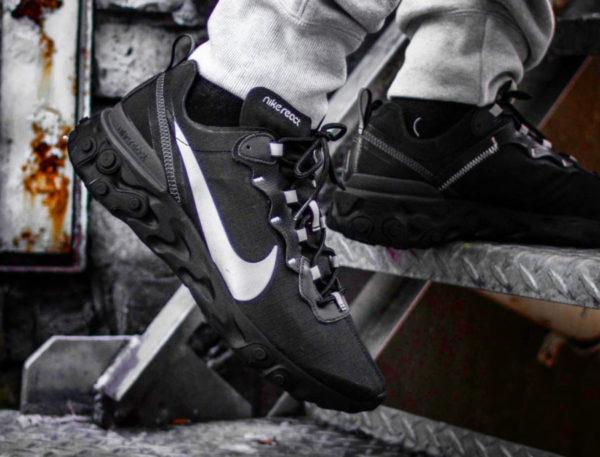 Nike React Element 55 SE Black Reflective BV1507-002