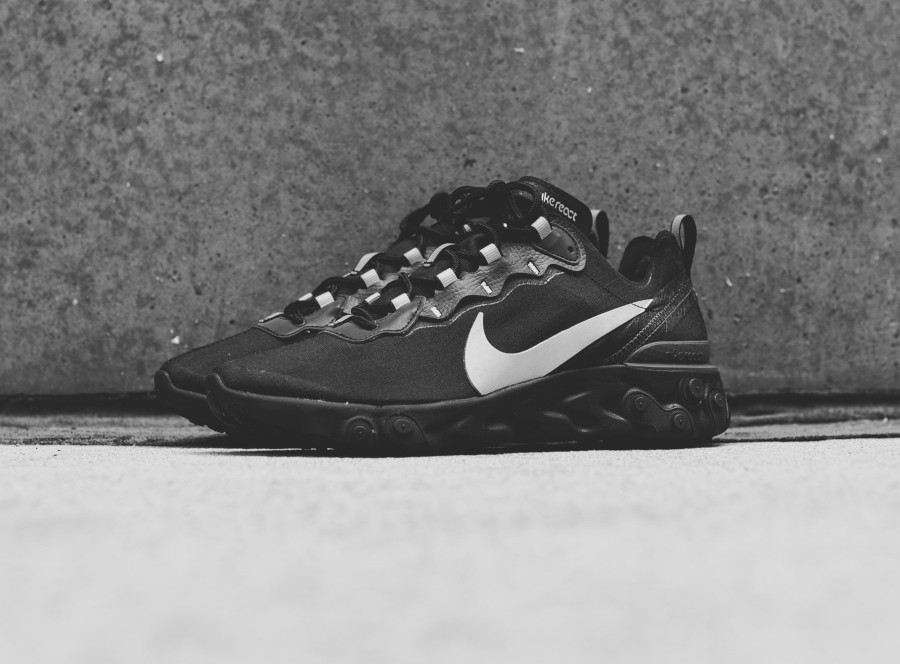 Nike React Element 55 SE noire grise et réfléchissante (1)