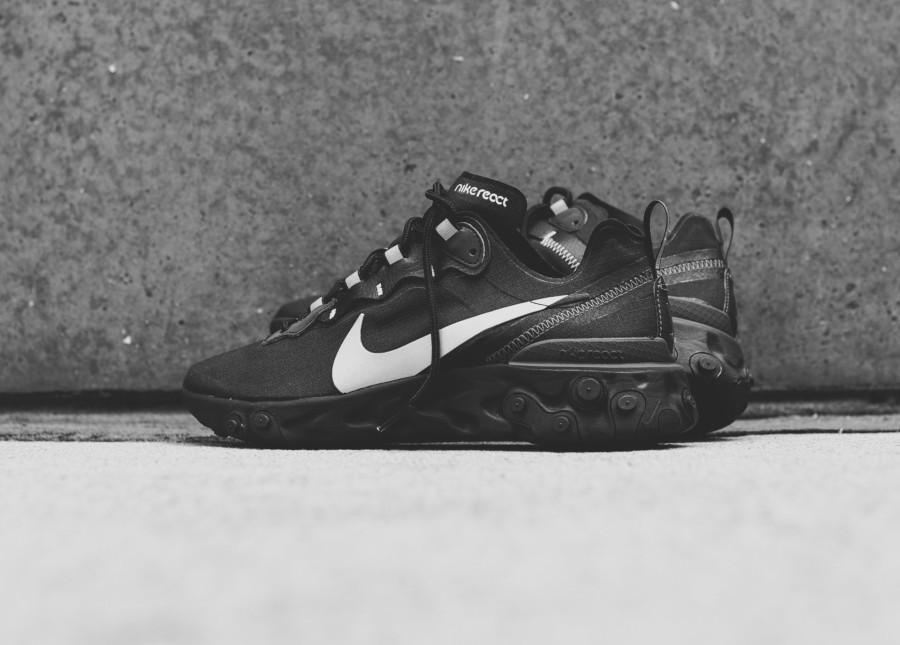 Nike React Element 55 SE noire grise et réfléchissante (3)